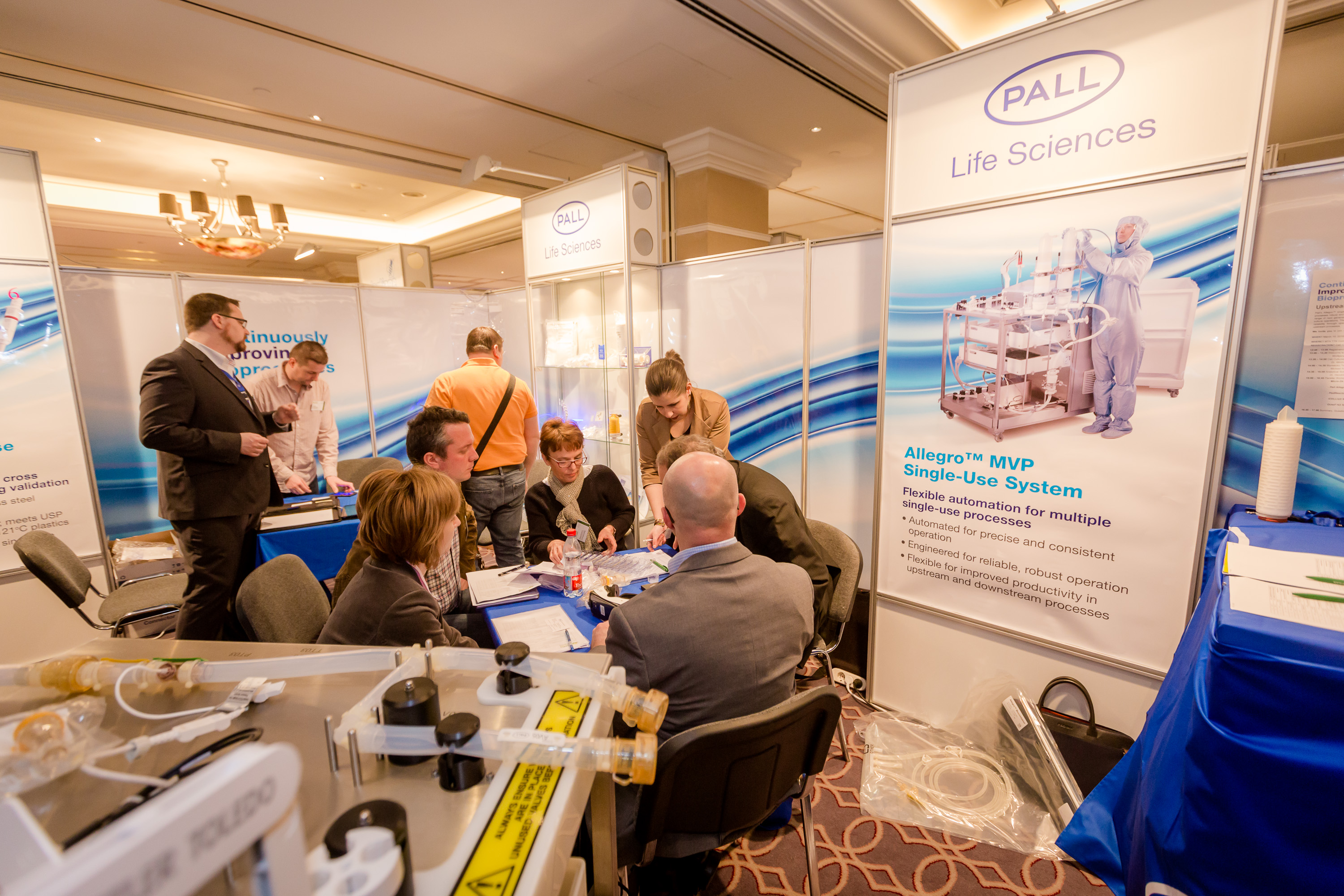Board room of Pall Life Sciences at PHARM Connect Congress 2016. Credit: TEG