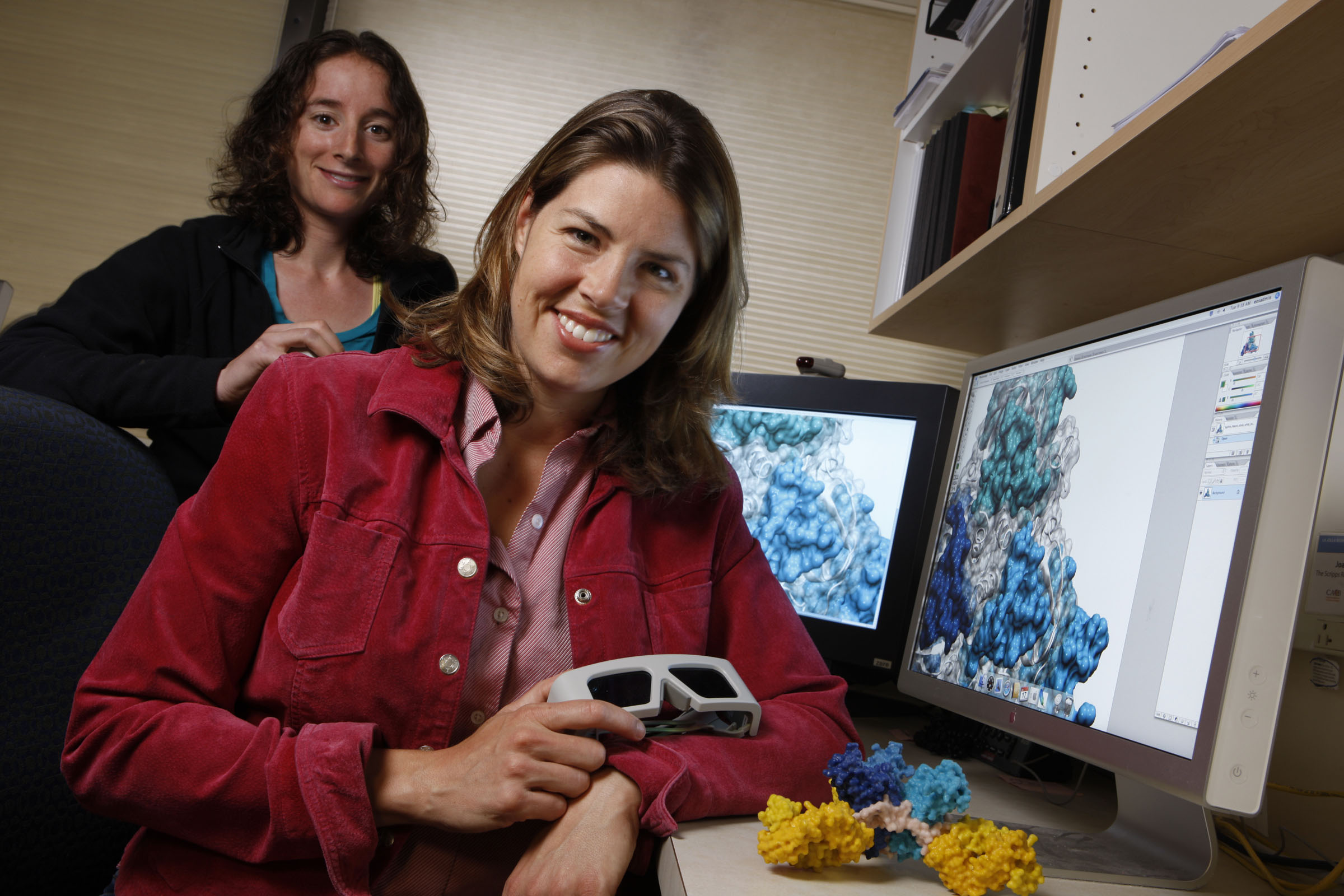 Šéfka výzkumného týmu Erica Ollmann Saphire. Kredit: E. Saphire, Scripps.